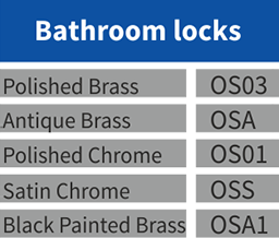 Bathroom locks